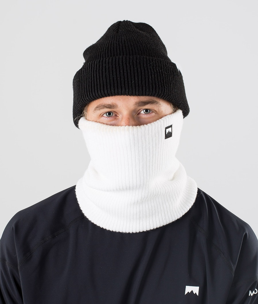Montec Classic Knitted Facemask White