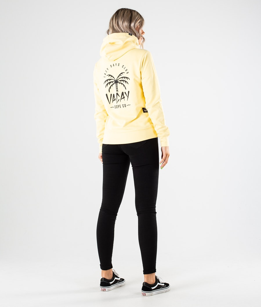 Dope Copain Palm Hoodie Damen Yellow