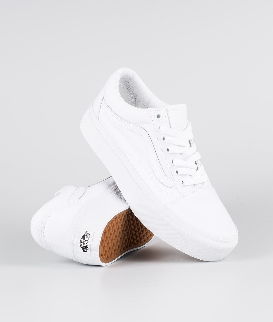 Vans Old Skool Platform Women's Shoes True White