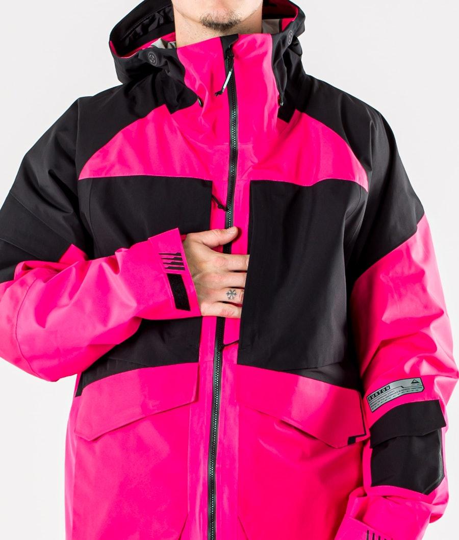 Burton GoreTex Banshey 2L Snowboard Jacket Punchy Pink/True Black