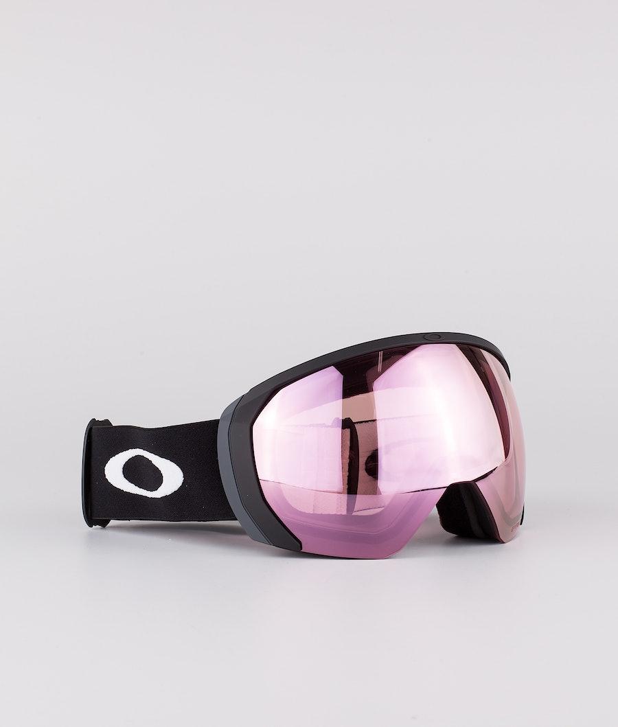 Oakley Flight Path L Skibril Matte Black With Prizm Snow Hi Pink Lens