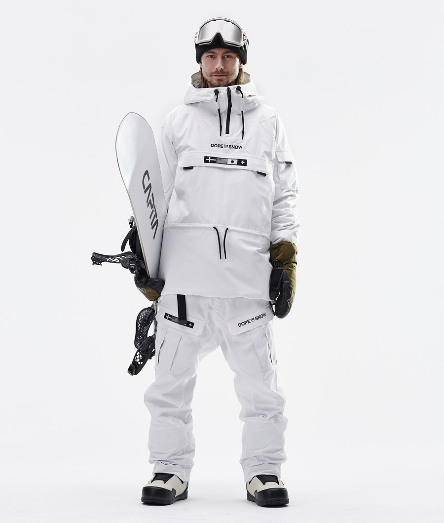 Dope KB Annok Snowboard Jacket White
