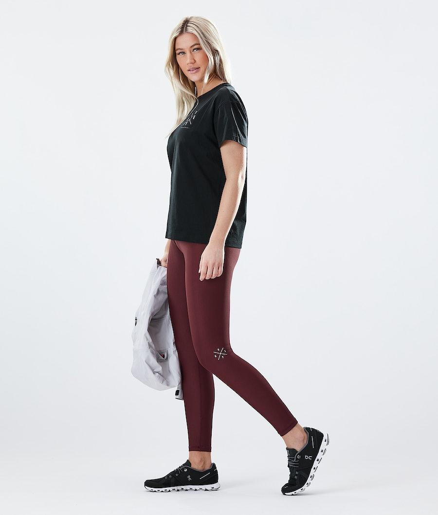 Dope Razor Women's Leggings Burgundy