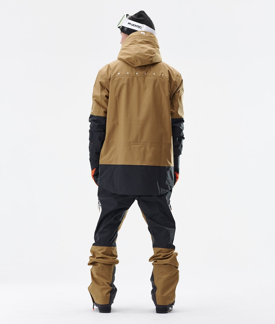 Montec Fenix 3L Ski Jacket Gold/Black