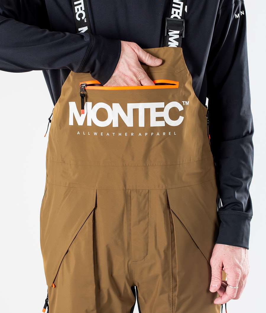 Montec Fenix 3L Ski Pants Gold