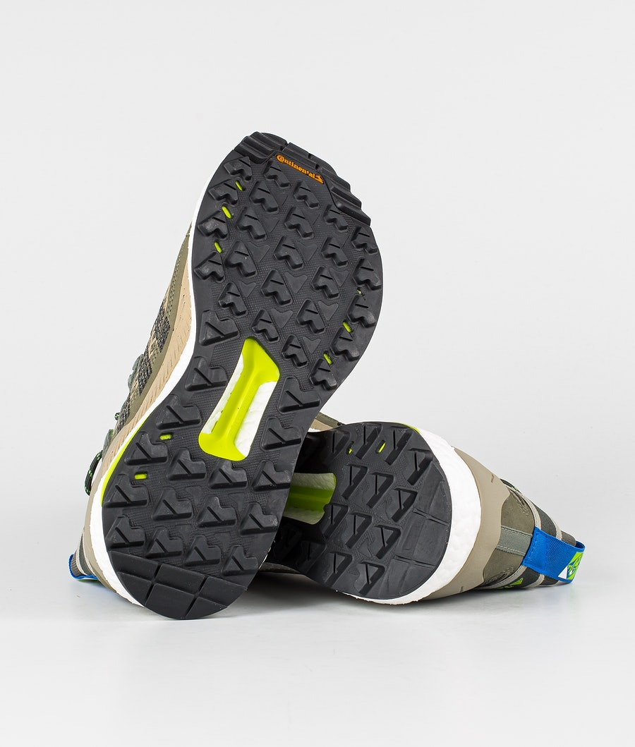 Adidas Terrex Free Hiker Blue Women's Shoes Legacy Green/Core Black/Signal Green