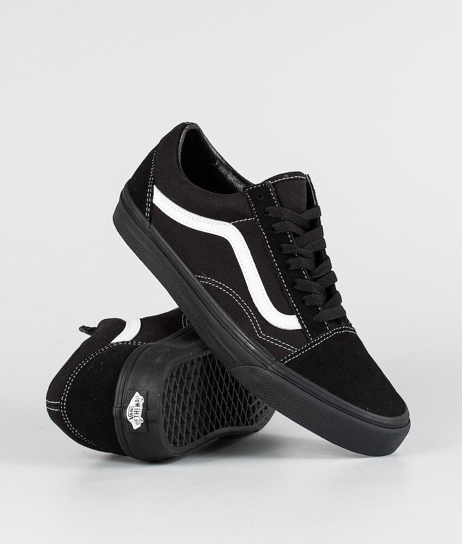 Vans Ua Old Skool Shoes (Suede/Canvas)Black/Black/True White