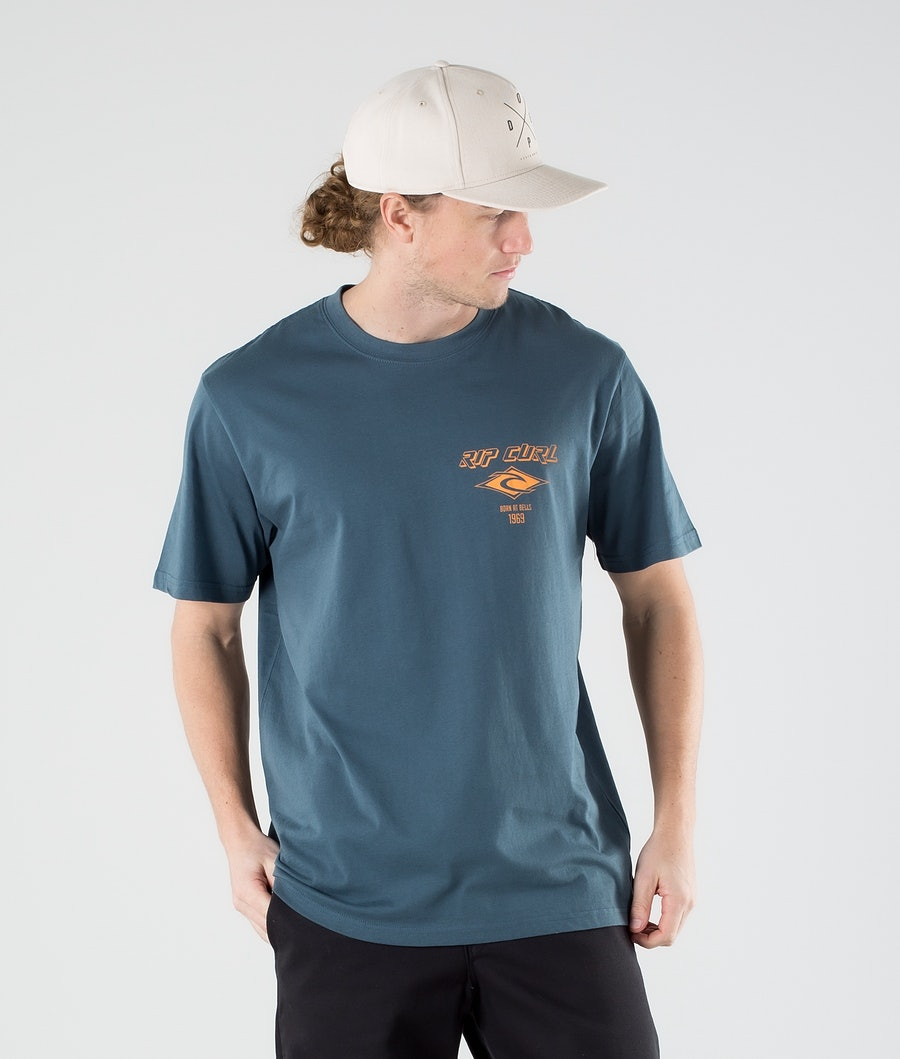 Rip Curl Fadeout Essential T-shirt Washed Navy