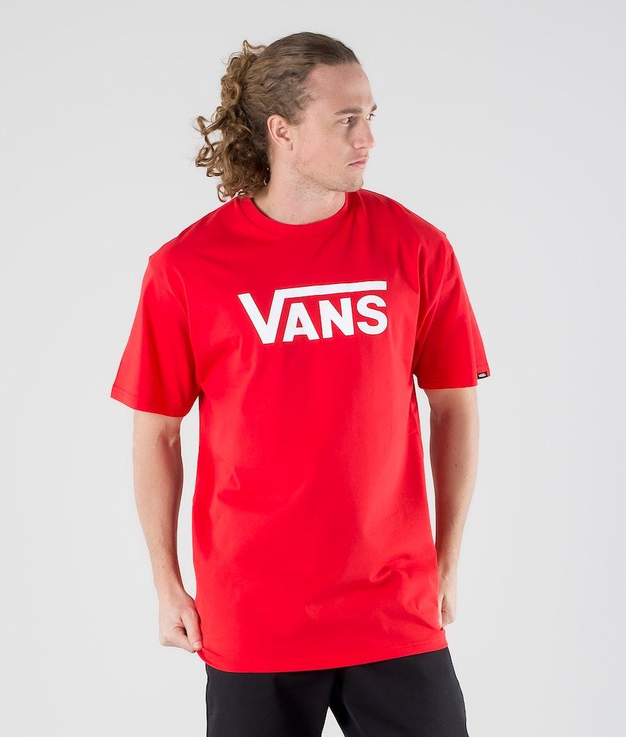 Vans Classic T-Shirt High Risk Red/White