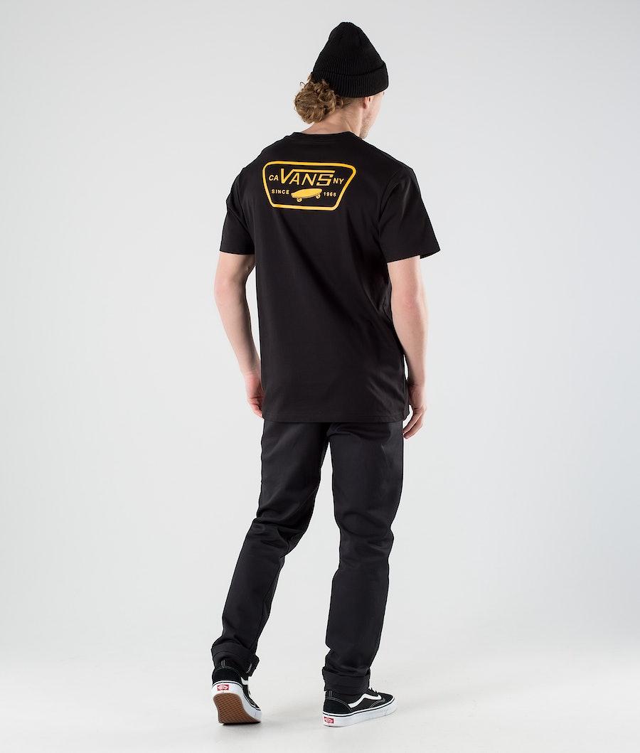 Vans Full Patch Back T-shirt Black/Saffron