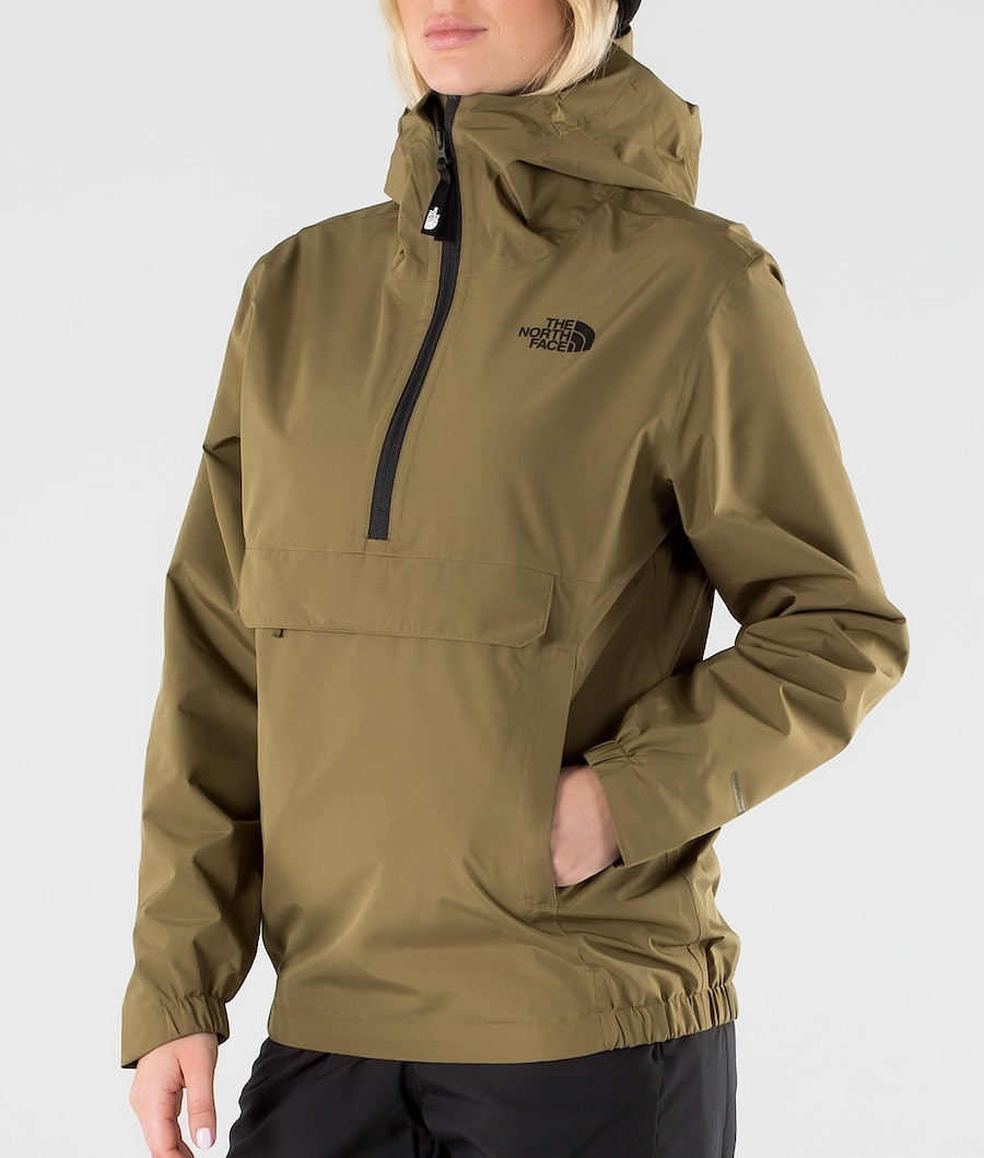 The North Face Waterproof Fanorak Giacca Outdoor Donna Military Olive
