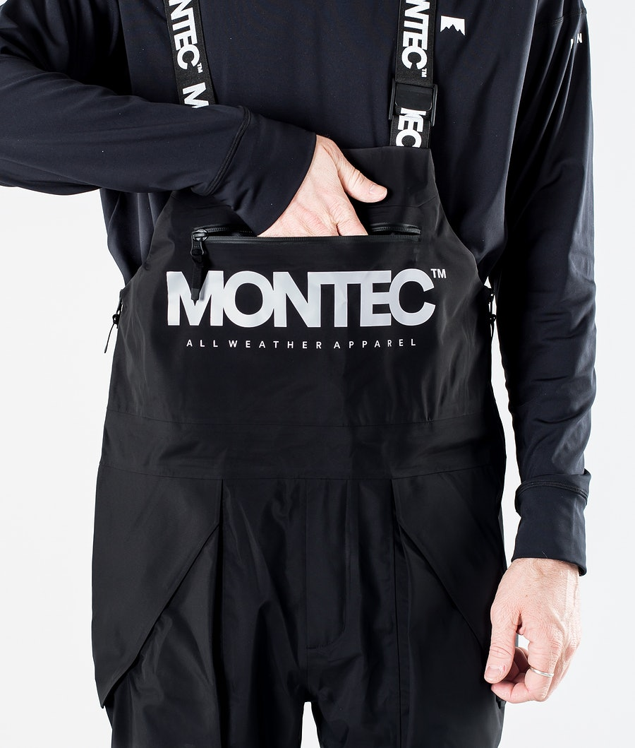 Montec Fenix 3L Snowboard Pants Black