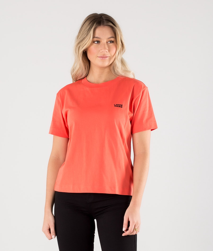 Vans Junior V Boxy T-Shirt Hot Coral