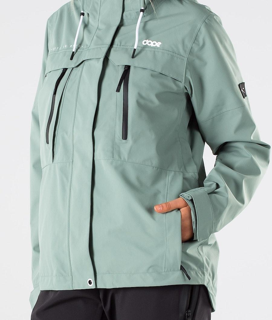 Dope Trekker 20 W Outdoor Jas Dames Faded Green