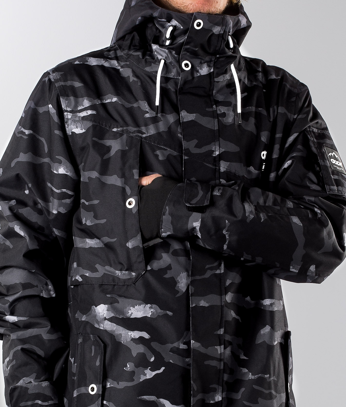 53d177270ad53 Dope Adept Ski Jacket Black Camo - Ridestore.com