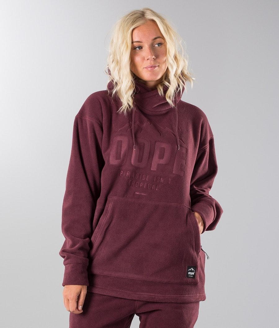 Dope Cozy Snow Sweater Burgundy
