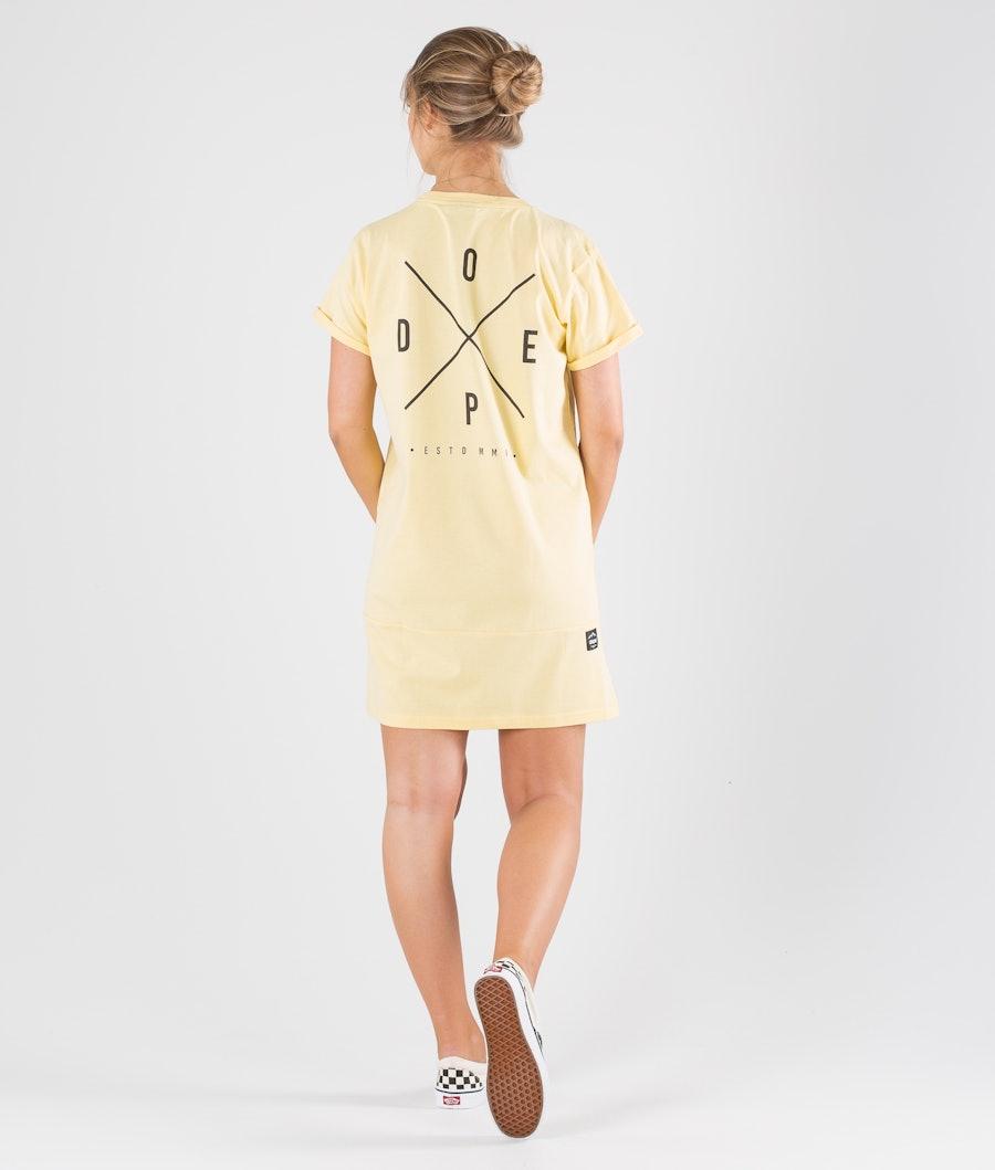Dope 2X-up Dress Kjole Dame Faded Yellow