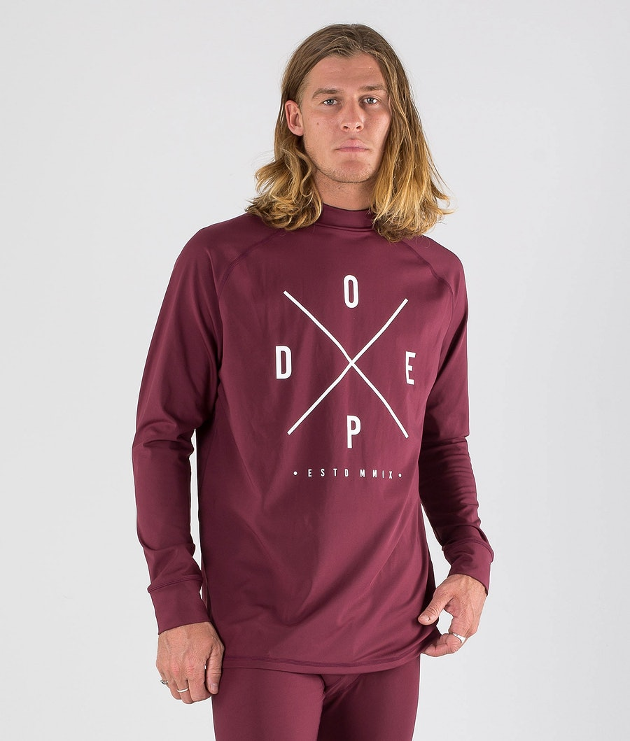 Dope Snuggle 2X-UP Basislaag Top Burgundy