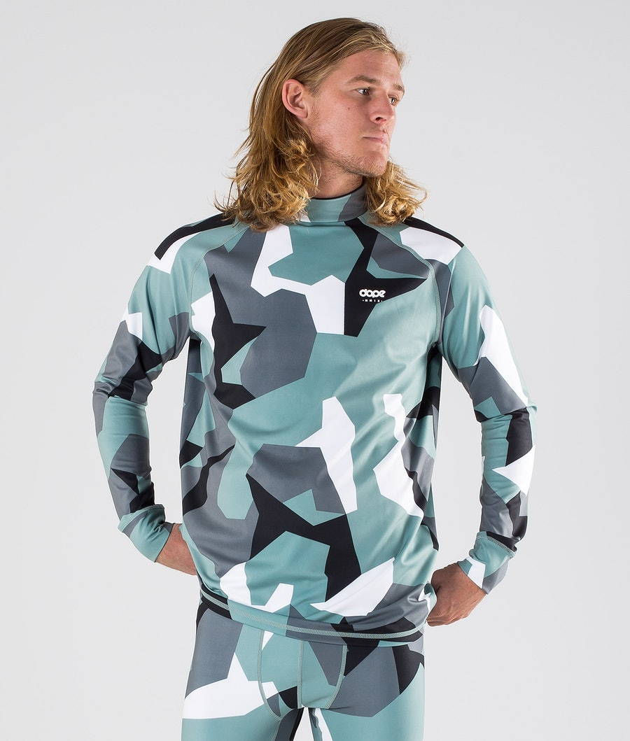 Dope Snuggle OG Base Layer Top Faded Green Camo