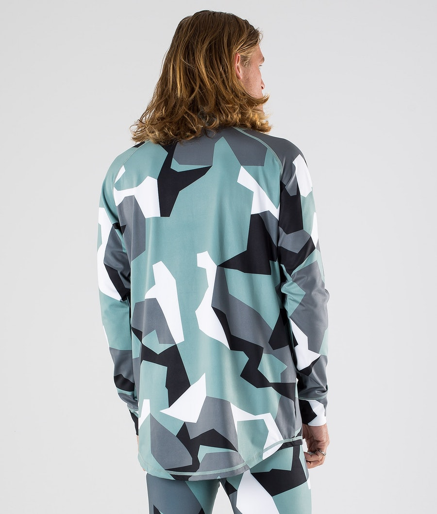 Dope Snuggle OG Funktionsshirt Faded Green Camo