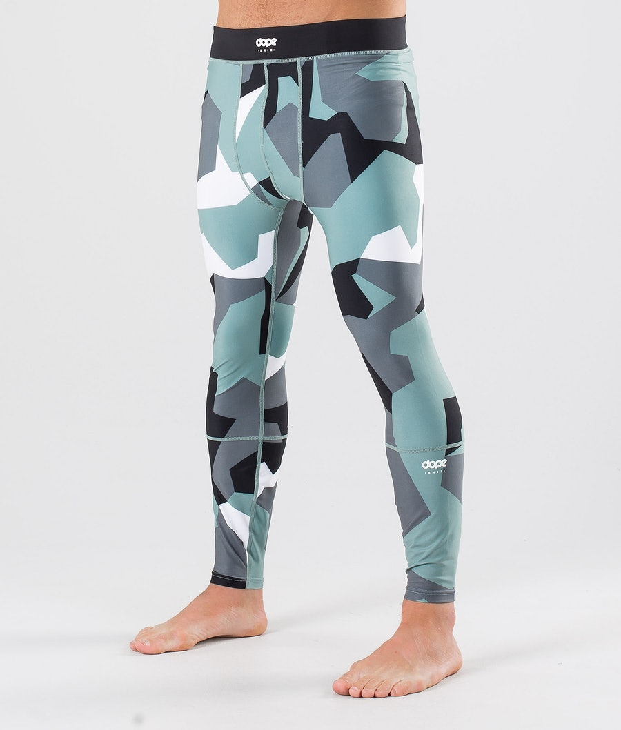 Dope Snuggle OG Pantalon thermique Faded Green Camo