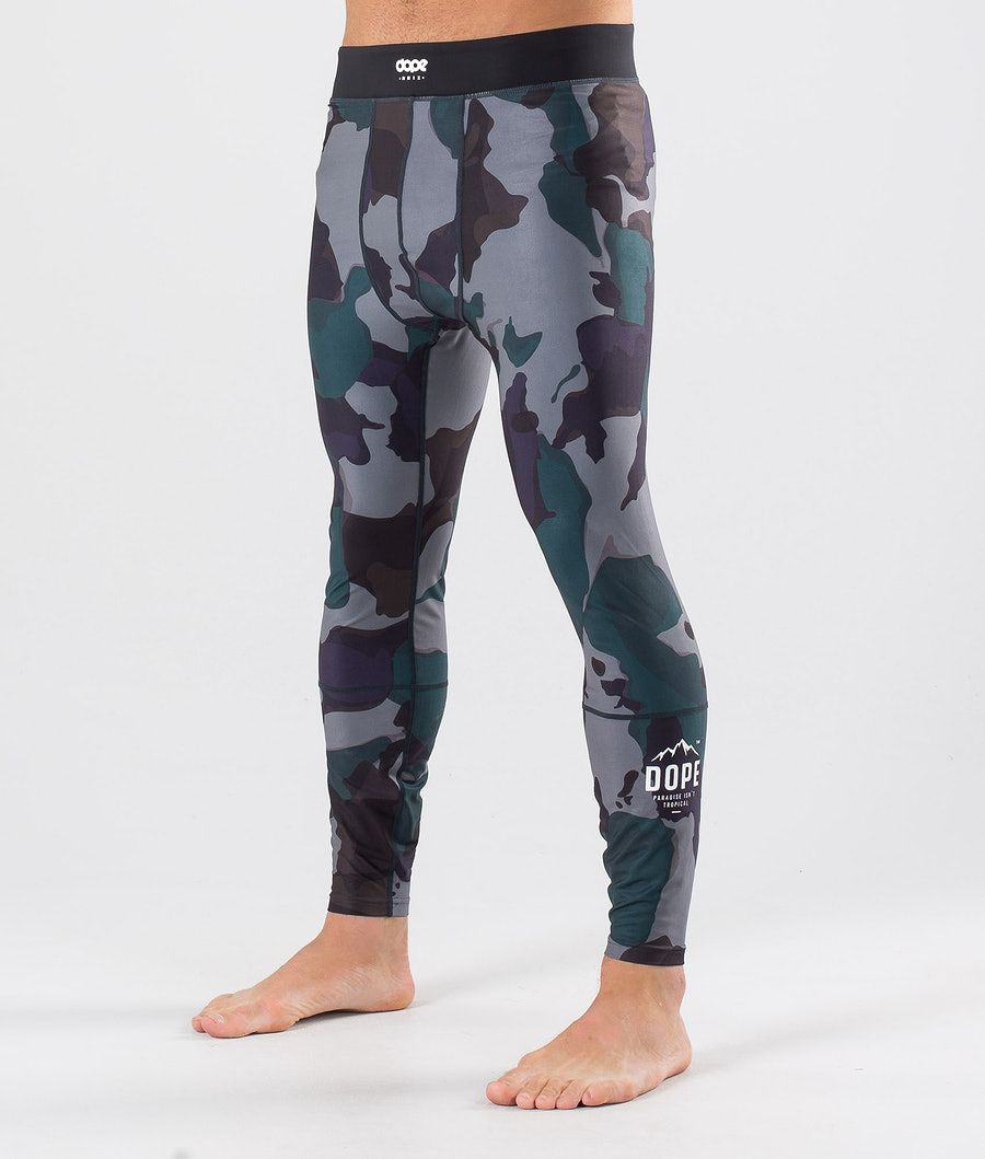 Dope Snuggle Paradise Base Layer Pant Grape Green Camo