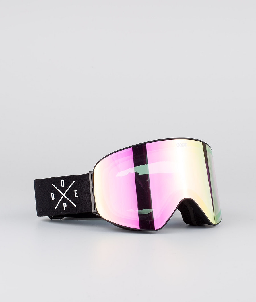 Dope Flush 2X-UP Ski Goggle Black W/Black Pink Mirror