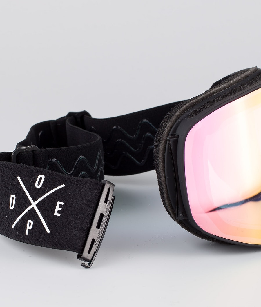 Dope Flush 2X-UP Ski Goggle Black W/Black Pink Mirror