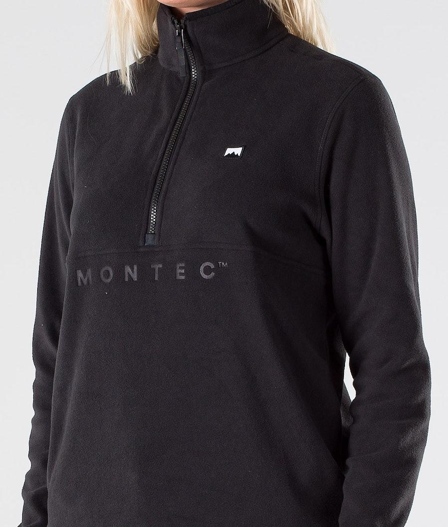Montec Echo W Fleecegenser Dame Black