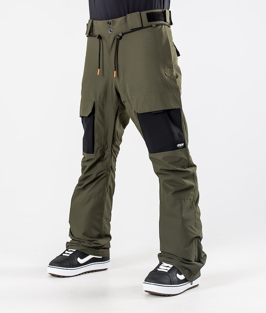 Dope Poise Snowboard Pants Olive Green/Black