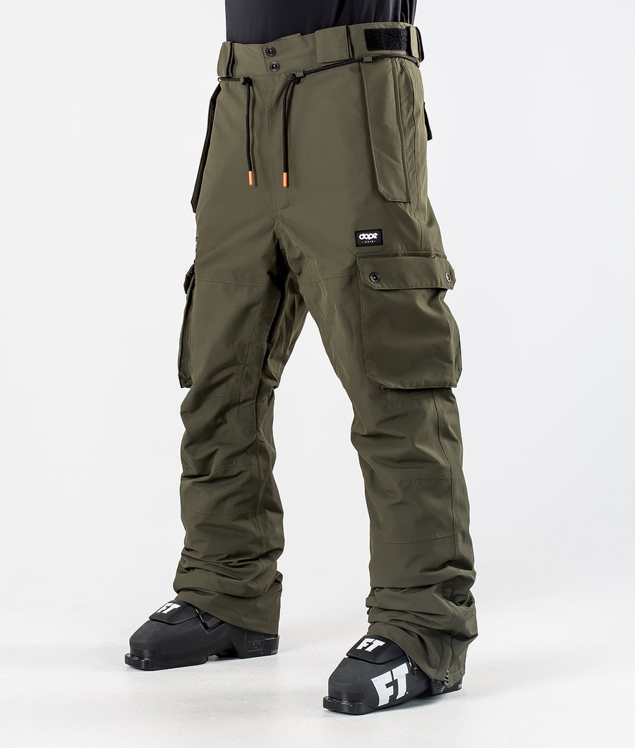 Dope Iconic Ski Pants Olive Green