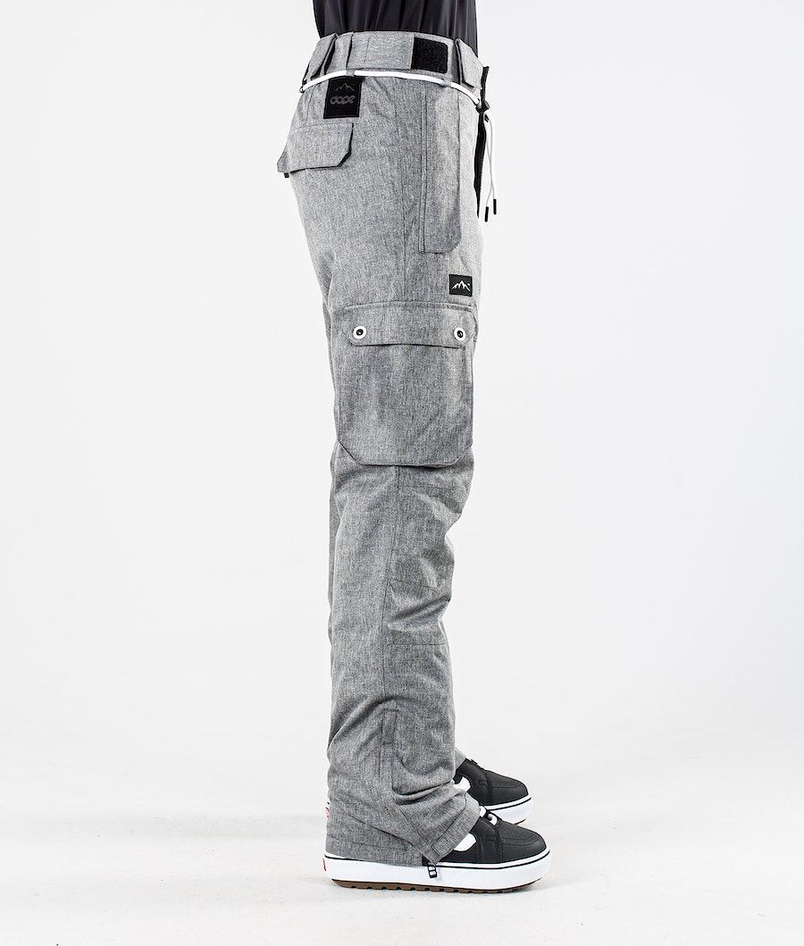 Dope Iconic W Pantaloni da Snowboard Donna Grey Melange