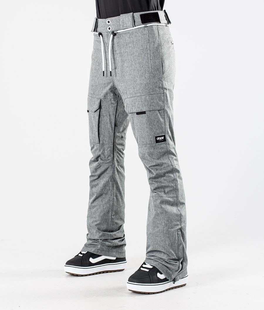 Dope Grace Pantaloni da Snowboard Grey Melange