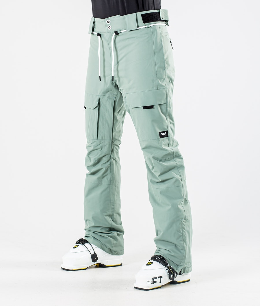 Dope Grace Ski Pants Faded Green