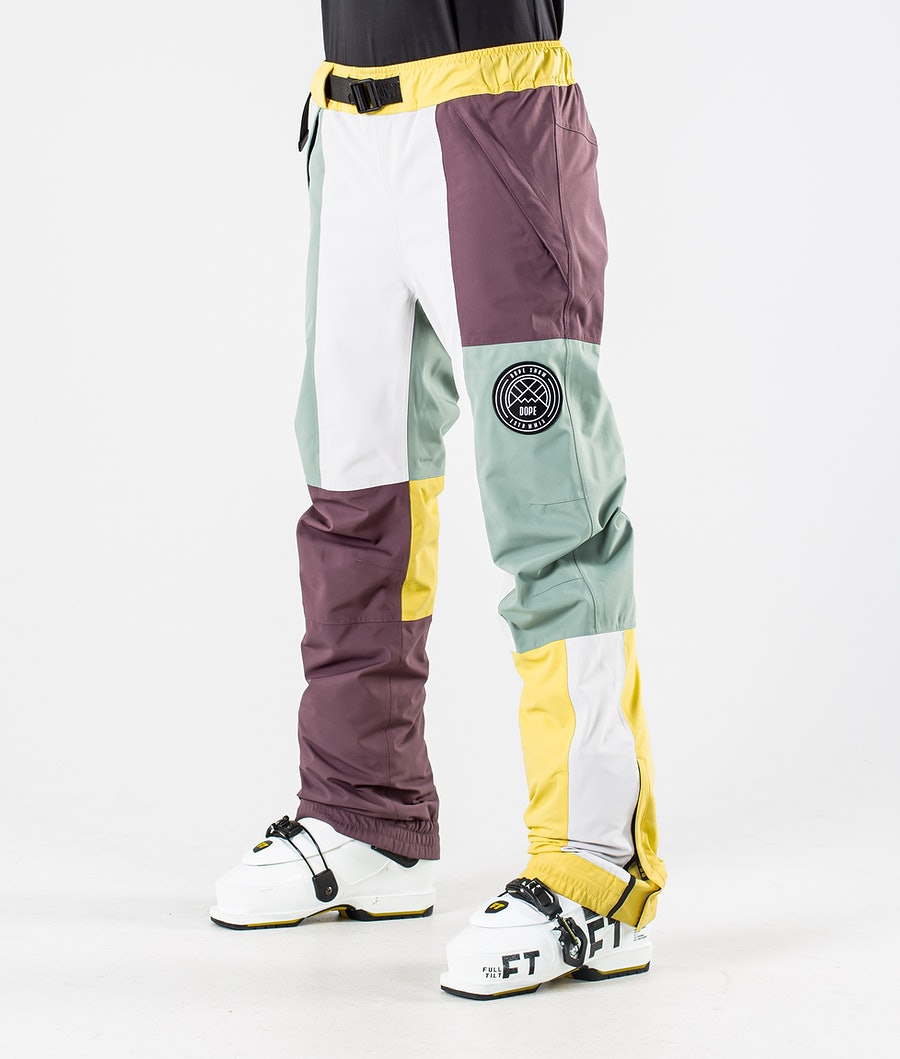 Dope Blizzard LE W Pantaloni da Sci Faded Green Patchwork