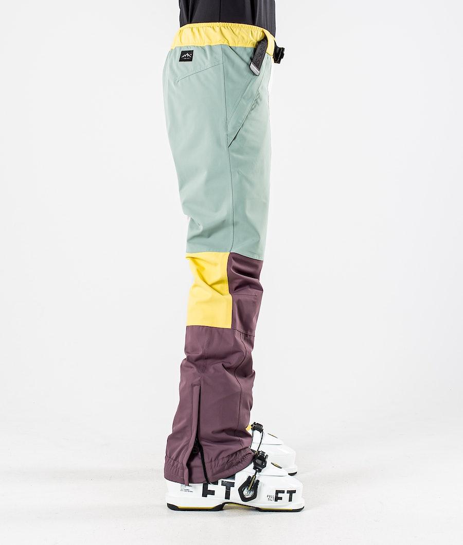 Dope Blizzard LE W Pantaloni da Sci Donna Faded Green Patchwork
