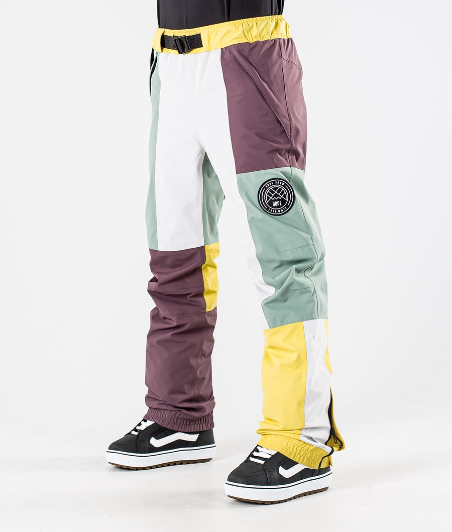 Dope Blizzard LE W Snowboard Pants Faded Green Patchwork