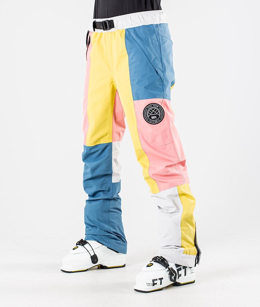 Dope Blizzard LE W Pantaloni da Sci Pink Patchwork