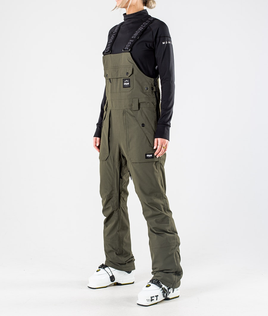 Dope Notorious B.I.B W Ski Pants Olive Green