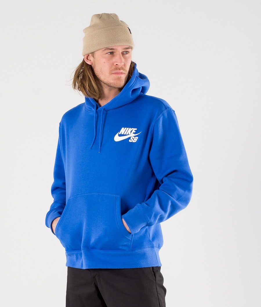 Nike SB Icon Hoodie Game Royal/White