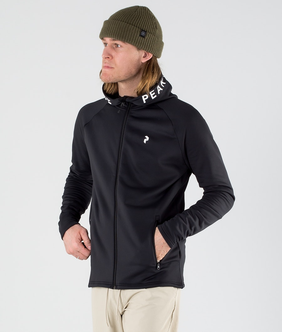 Peak Performance Rider Zip Hood Black