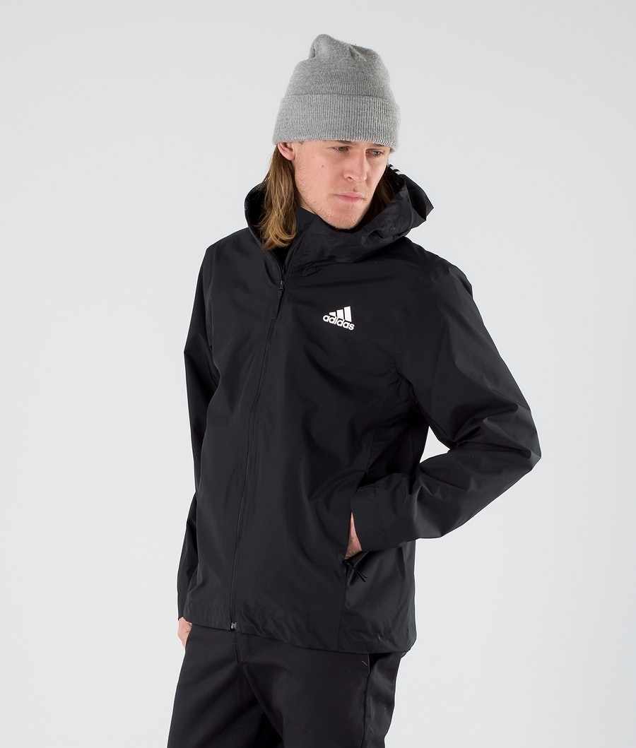 Adidas Terrex BSC 3 Stripes Rain Ready Jacke Black