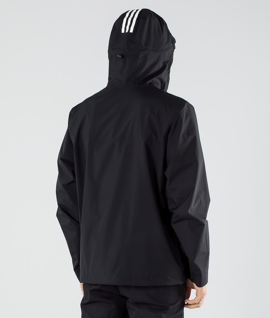 Adidas Terrex BSC 3 Stripes Rain Ready Jacka Black