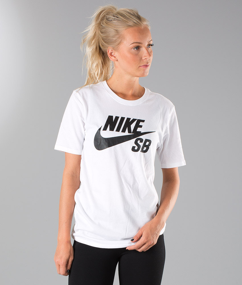 b74de650 Nike SB Logo Unisex T-shirt White/White/Black - Ridestore.com