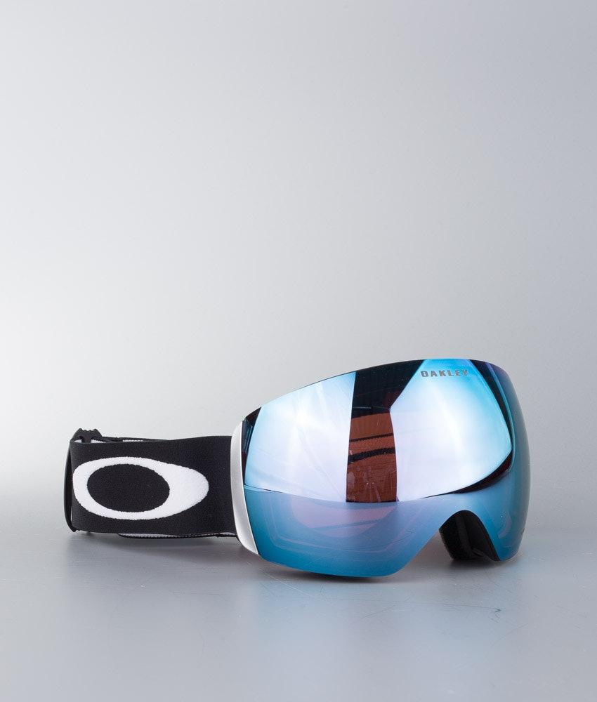 Oakley Flight Deck Unisex Maschera Snow Matte Black W/Prizm Sapphire