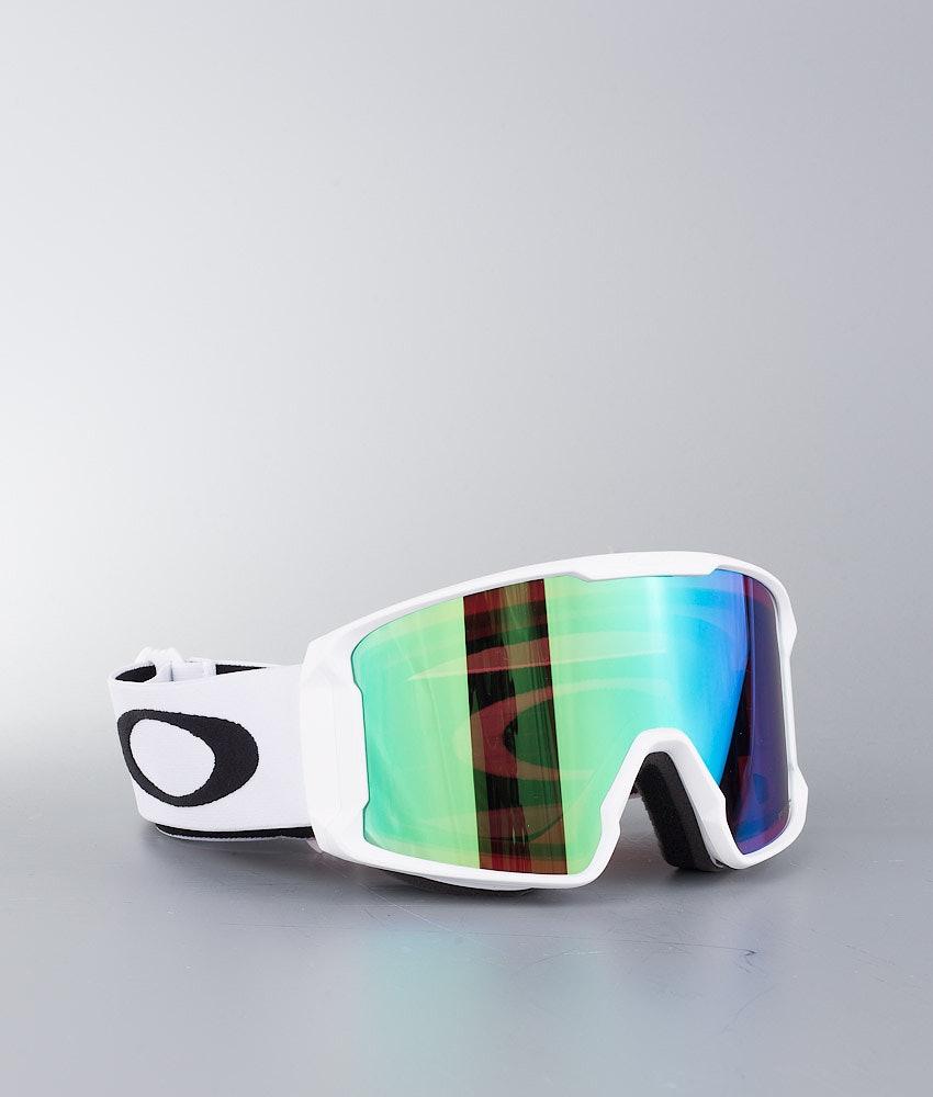 Oakley Line Miner Skibriller Matte White W/ Prizm Goggle Jade Irid