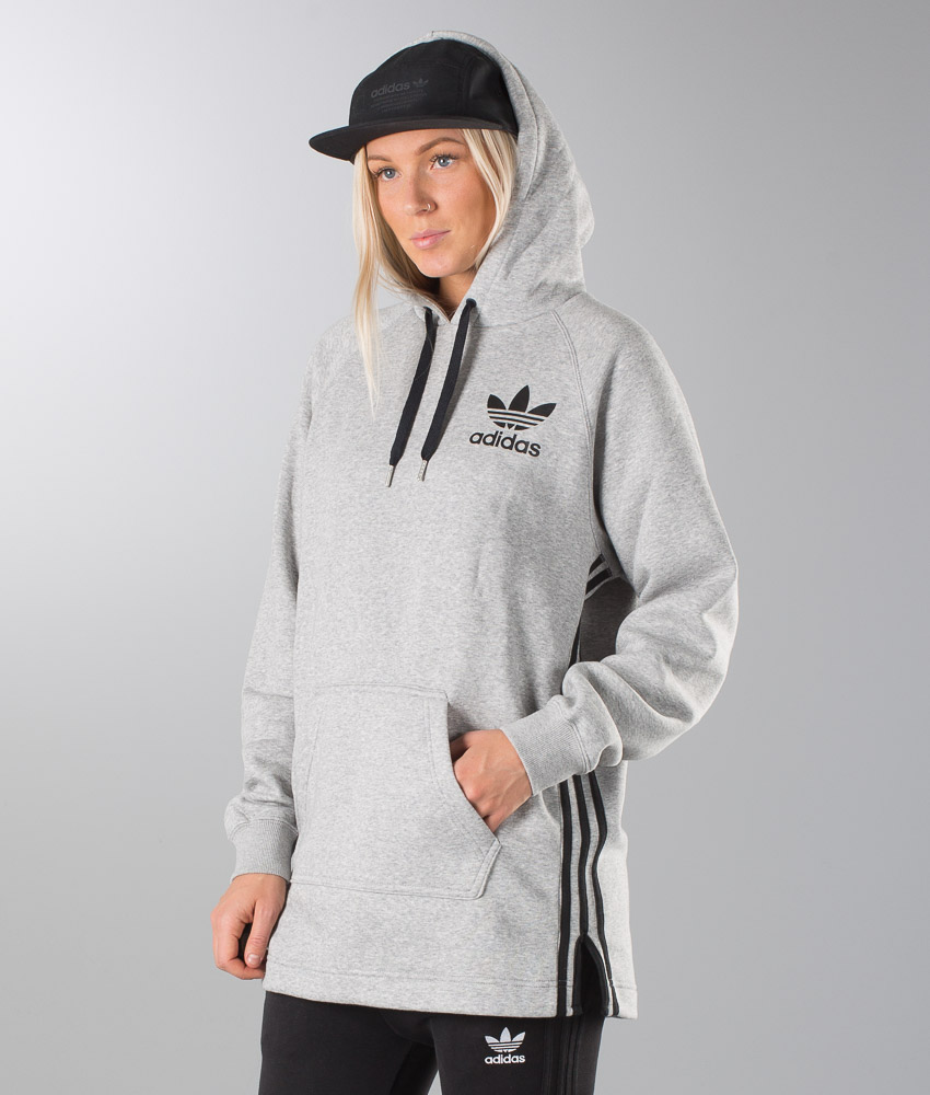 Adidas Originals Elongated Unisex Hood Medium Grey Heather - Ridestore.com b994c90592
