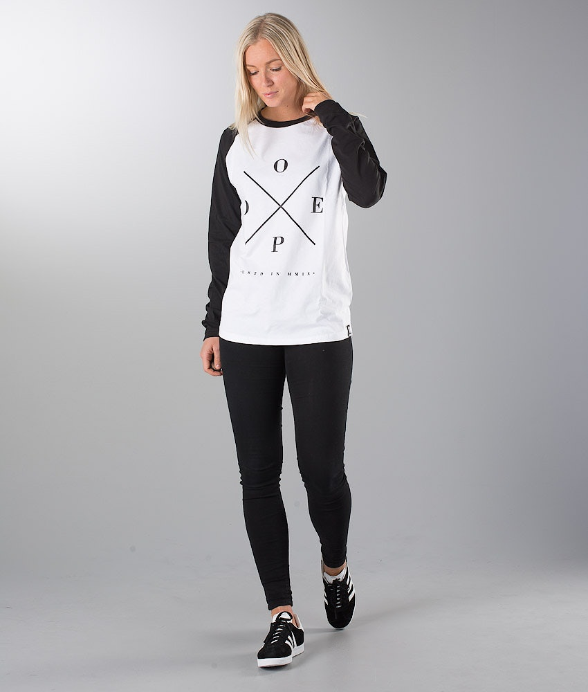 Dope 2X-Up Unisex Longsleeve Dame White/Black