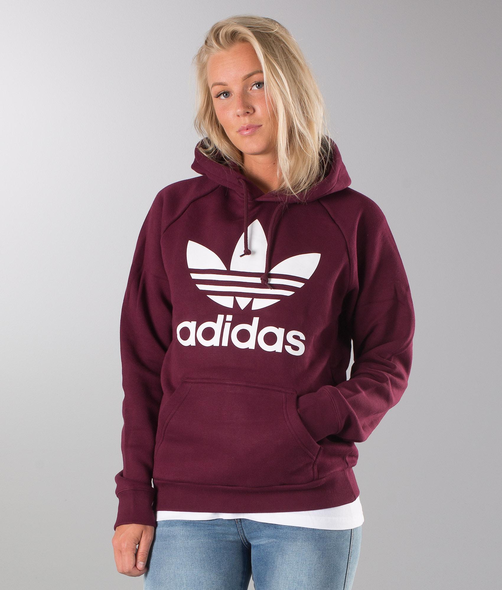 0d871650 Adidas Originals Trefoil Unisex Hoodie Maroon - Ridestore.com