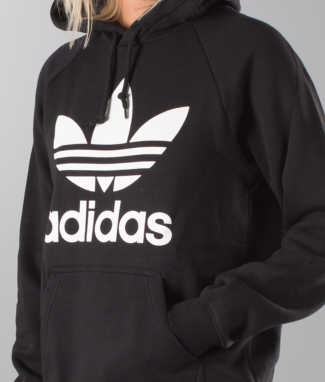 Adidas Originals Trefoil Unisex Huppari Black - Ridestore.fi 2bb2e75532